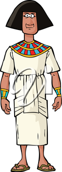 Ancient Egyptian nobleman on a white background vector illustration