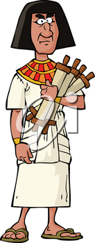 Ancient Egyptian official on a white background vector illustration
