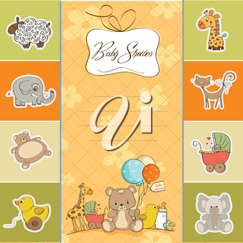Royalty Free Clipart Image of a Baby Shower Background