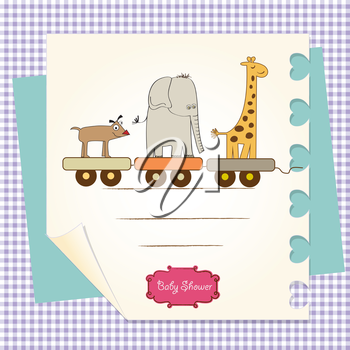 Royalty Free Clipart Image of a Baby Shower Card