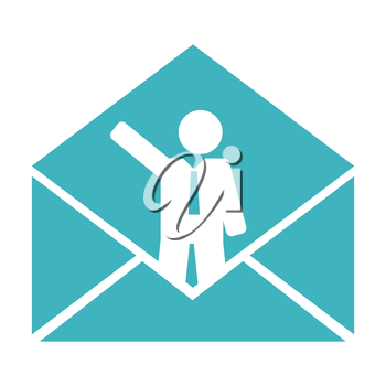 conceptual business mail, illustration in vector format