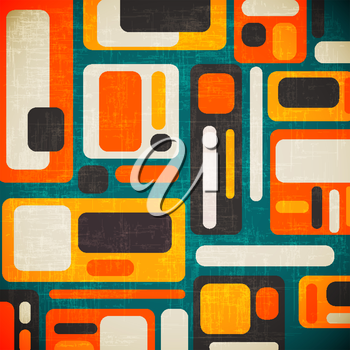 retro geometrical abstract background, vector format
