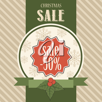 Christmas sale design , illustration in vector format