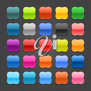Royalty Free Clipart Image of Colourful Computer Icons