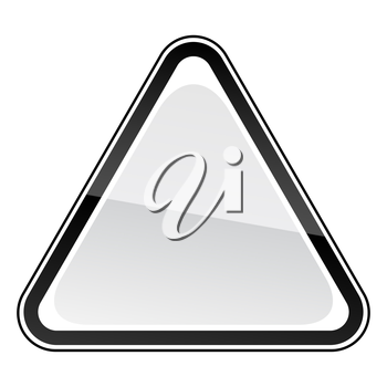 Royalty Free Clipart Image of a Triangular Sign