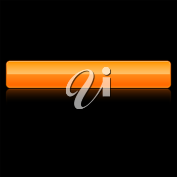 Royalty Free Clipart Image of an Orange Computer Button