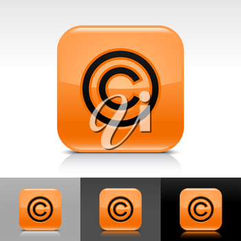 Royalty Free Clipart Image of a Set of Copyright Icons