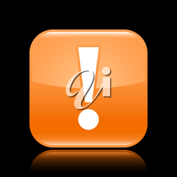 Royalty Free Clipart Image of an Exclamation Mark Icon
