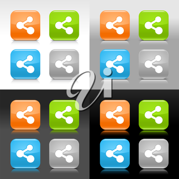 Royalty Free Clipart Image of a Set of Share Icons