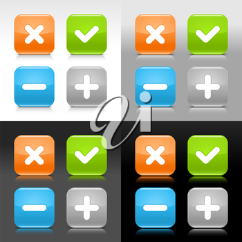 Royalty Free Clipart Image of Four Mathematical Icons
