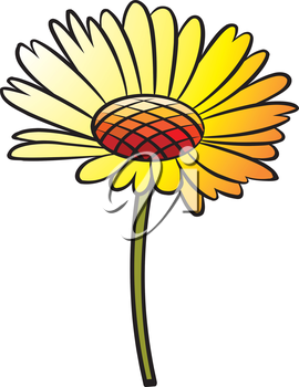 Royalty Free Clipart Image of a Yellow Flower