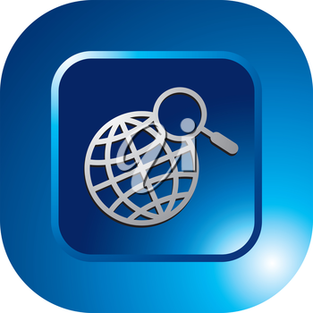 Royalty Free Clipart Image of a Map Icon