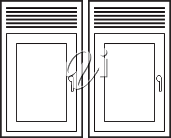 Royalty Free Clipart Image of Windows