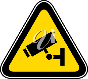 Triangular yellow Warning Hazard Symbol, vector illustration