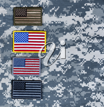 Variety of US flags for Memorial, 4th of July and Veterans Day holiday