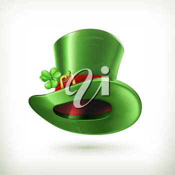Leprechaun Hat, vector icon