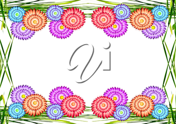 Paper floral background with place for text