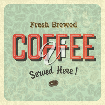 Coffee vintage poster. Vector