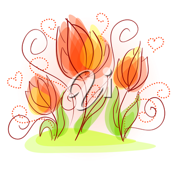 Cute floral background with a beautiful flowers