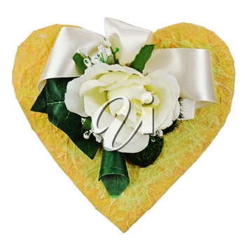 Royalty Free Photo of Artificial Roses on a Heart
