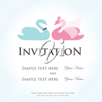 Royalty Free Clipart Image of a Sample Wedding Invitation