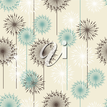 Vintage floral pattern in pastel colors. Hand drawn chrysanthemums flowers.Vector illustration for design of gift packs, wrap,  patterns fabric, wallpaper, web sites and other.