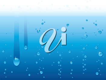 Vector illustration of Water drops