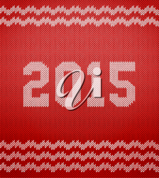 Vector illustration (eps 10) of Knitted texture 2015