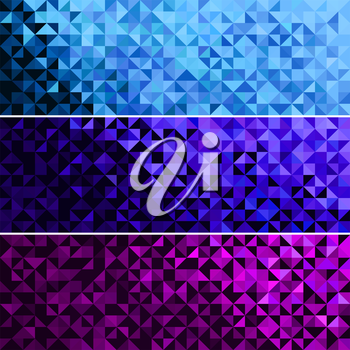 Abstract Light Brilliant Fun Holiday Banner Pattern. Bright Sparkle Blue Pink Violet Vector Background