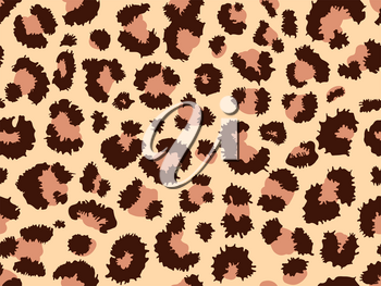 Seamless leopard fur pattern. Fashionable wild leopard print background. Modern panther animal fabric textile print design. Stylish vector color illustration