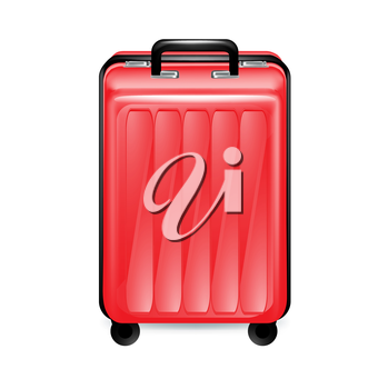 trolley case isolated on white background
