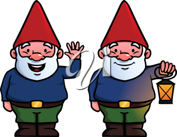Royalty Free Clipart Image of a Gnome Set