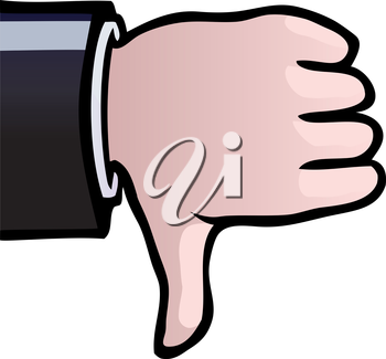 Royalty Free Clipart Image of a Thumbs Down