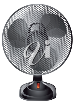 Royalty Free Clipart Image of a Fan