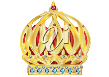 crown isolated on a white background. 10 EPS