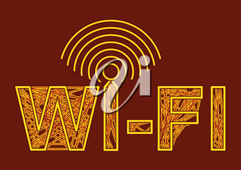 wireless symbol. wi-fi with antenna and sign of signal