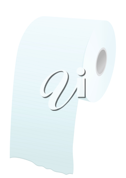 toilet paper roll isolated on a whote background