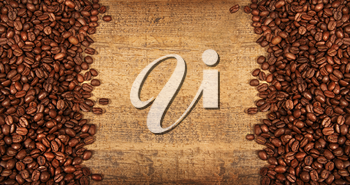 Royalty Free Photo of a Roasted Coffee Bean Background