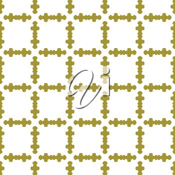 Vector seamless pattern texture background with geometric shapes, colored in gold and white colors.