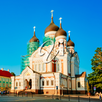Alexander Nevsky Cathedral, An Orthodox Cathedral Church In Tallinn Old Town, Estonia. Summer Time