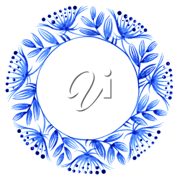 Royalty Free Clipart Image of a Decorative Circle