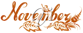Royalty Free Clipart Image of November