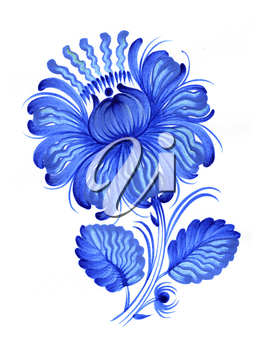 Decorative blue flower of summer