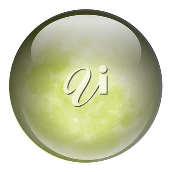 Illustration of a green ball on a white background