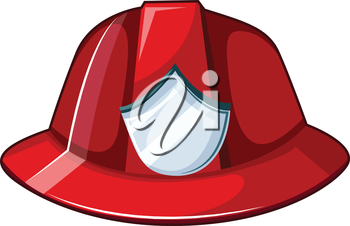 Illustration of a fire helmet on a white background