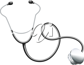 Illustration of a doctor's stethoscope on a white background