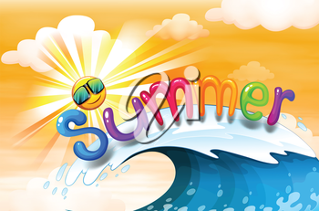 Illustration of a summer artwork