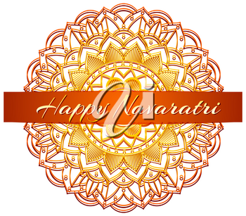 Poster design for Happy Navaratri festival illustration