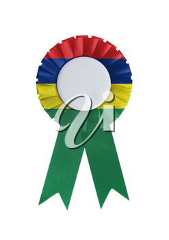 Award ribbon isolated on a white background, Mauritius