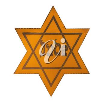 Jewish Yellow Star - This David's Star was used in Ghetto and Concentration Camps.